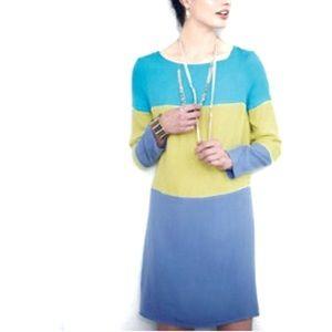 Anthro Maeve Galen dress colorblock shift dress